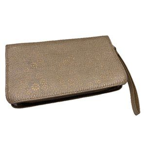 Gold Convertible Organizer Wallet Wristlet